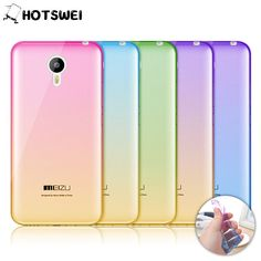 For Meizu M2 Note / M3 Note NEW Gradient Colors Soft TPU Case for Meizu M3 M2 M3S Mini MX5 Ultra Thin 0.3mm Phone Cases Cover