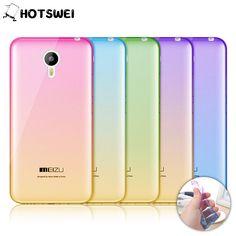 For Meizu M2 Note / M3 Note NEW Gradient Colors Soft TPU Case for Meizu M3 M2 M3S Mini MX5 Ultra Thin 0.3mm Phone Cases Cover
