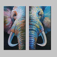 【今だけ☆送料無料】 アートパネル  動物画2枚で1セット 象 ゾウ 牙 アニマル【納期】お取り寄せ2~3週間前後で発送予定
