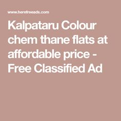 Kalpataru Colour chem thane flats at affordable price - Free Classified Ad
