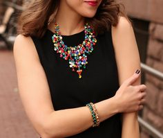 beautiful necklace as worn at penny pincher fashion.