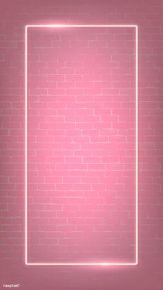 premium illustration of Rectangle pink neon frame on a pink brick Rectangle pink neon frame on a pink brick wall vector Framed Wallpaper, Pink Wallpaper Iphone, Pink Wallpaper For Walls, Pinky Wallpaper, Brick Wall Wallpaper, Brick Wall Background, Macbook Wallpaper, Frame Background, Kitchen Wallpaper
