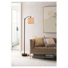 One 100 watt: Threshold™ Black Downbridge Floor Lamp with Tan ... : Target