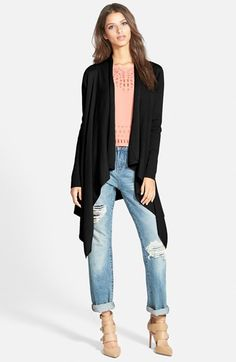 3b4df805e707e Leith Waterfall Open Front Cardigan available at  Nordstrom Moda Para Mujer