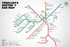 Boston T bar map