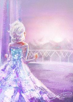 "Beautiful fan art of Elsa from ""Frozen"" Frozen Disney, Disney Pixar, Princesa Disney Frozen, Walt Disney, Disney Fan Art, Disney And Dreamworks, Disney Magic, Disney Movies, Disney Characters"