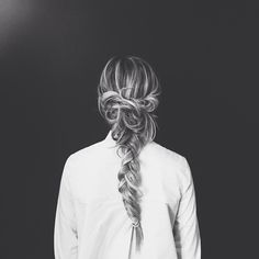 messy braid.