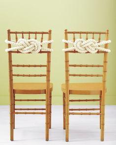 Rope Knot Chair Backs-nautical wedding?