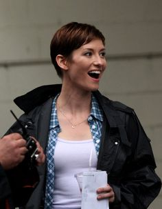 chyler leigh taxi brooklyn south | Chyler Leigh filming the pilot for the telivision show, 'Taxi ...