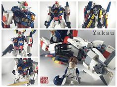 "Lego Gundam - my own personal version of a Gundam existing in my Universe, The Gundam Yaksu SK8800. Yaksu means ""Promise."""