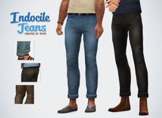 Un Sims au bout du fil. - Indocile Jeans for the Sims 4 It's a mix between...