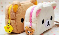 Find images and videos about cute, kawaii and rilakkuma on We Heart It - the app to get lost in what you love. Kawaii Diy, Kawaii Shop, Kawaii Cute, Diy Kawaii Purse, Kawaii Stuff, Japanese School Supplies, Cute School Supplies, Cute Pencil Case, Pencil Pouch