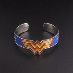 Movie Superhero Wonder Women Charm Bracelet Fantasy Universe Torque Winner Acronym W Crown Pentagram Armor Bracelet Action Toy Outstanding Features Toys & Hobbies