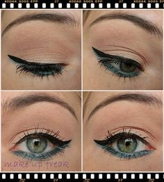 Green eye makeup with a natural base! #for more natural looks, join http://bellashoot.com