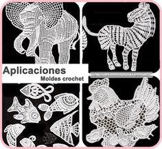 Delicadezas en crochet Gabriela: Moldes de aplicaciones en crochet
