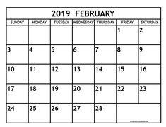 Feb Month Calendar 2019.131 Best Free Printable February 2019 Calendar Template Images