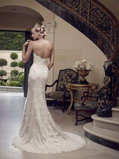 Casablanca Strapless Lace Bridal Dresses