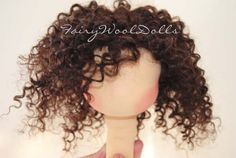 Doll hair - mohair weft wig tutorial