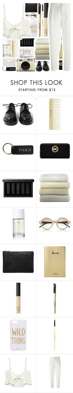 """BasicColors."" by mhurtiz ❤ liked on Polyvore featuring Achilles Ion Gabriel, Retrò, MICHAEL Michael Kors, NARS Cosmetics, Peacock Alley, Roads, Illesteva, Miss Selfridge, Harrods and Sonix"