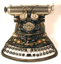 Crandall new model typewriter 1886. Yikes, have a look at that keyboard!