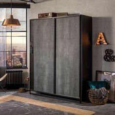 Versatile Sliding 2 Door Wardrobe Boys Bedroom Furniture, Boys Bedroom Decor, Teen Bedroom, Sliding Wardrobe Doors, 2 Door Wardrobe, Childrens Wardrobes, Locker Storage, Cabinet, Dark