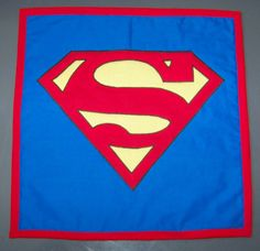 Superman MiniQuilt Wall hanging by FunWithQuilts on Etsy, $20.00