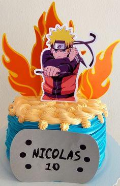 Bolo Do Naruto, Topper, Birthday Cake, David, Desserts, Food, Chantilly Cream, Royal Cakes, White Icing
