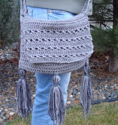 Crochet Messenger Bag - you always need one! complete tutorial with pictures and written explanations!