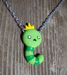 King Worm Necklace  Adventure Time Cartoon by happycrafties, $10.00