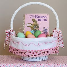 Personalized Easter Basket Liner By TaDa! Creations on Etsy: Easter basket liners, made to fit Pottery Barn Sabrina Easter Baskets.
