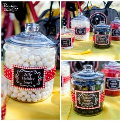 Mary Poppins party candy jars - Design Dazzle