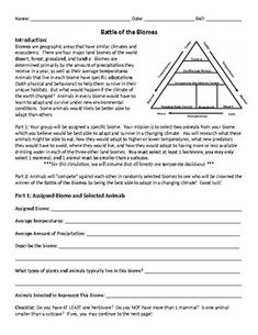 This a worksheet created to go along with the movie wall e it battle of the biomes fandeluxe Gallery