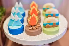 Elwin's Exciting Camping Theme Party – Sweets Camping Desserts, Camping Parties, Camping Theme, Park Birthday, 1st Birthday Parties, Birthday Cake, Party Sweets, 1st Birthdays, Party Themes