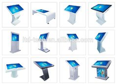32 inch desktop computer touch screen all in one pc floor stand