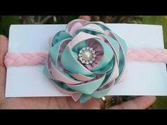 Tiara con flor vaporosa de tela VIDEO No. 330 - YouTube