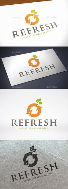Refresh Orange Logo Design Template Vector #logotype Download it here: http://graphicriver.net/item/refresh-orange-logo-template/12243330?s_rank=310?ref=nexion