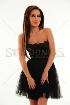 Rochie Ana Radu Lady Mirage Black Corset, Formal Dresses, Lady, Clothes, Fashion, Tulle, Dresses For Formal, Outfits, Moda