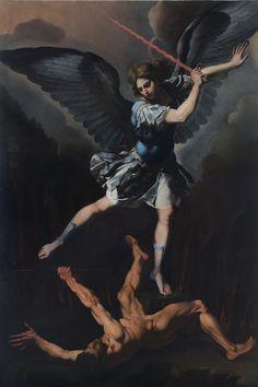 Francesco Cozza, Saint Michael the Archangel Vanquishing the Devil, c. 1650