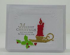 Handmade christmas Card with quality Card Stock. Embossed frame on front and inside. Christmas Tag, Handmade Christmas, Selling On Pinterest, Gift Tags, Card Stock, Greeting Cards, Stamp, Etsy Shop, Handmade Gifts