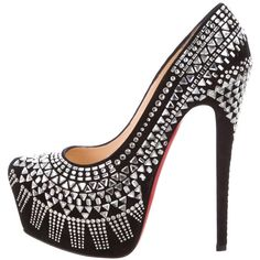 4b39a88841d8 Pre-owned Christian Louboutin Decora Strass 160 Pumps ( 1