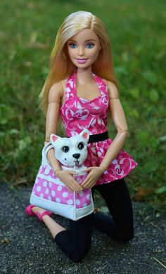 Barbie and her westie Zoey -Dolls and things