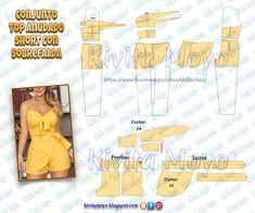 Sewing Shorts, Sewing Clothes, Diy Clothes, Dress Sewing Patterns, Blouse Patterns, Clothing Patterns, Fashion Sewing, Diy Fashion, Modelista