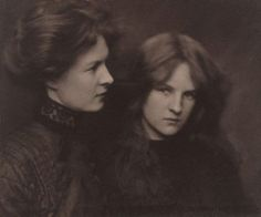 The Orphan Sisters. Harold Cazneaux (1906). Gelatin silver photograph. Art Gallery of New South Wales. (nsw) [Not technically a painting, but look how beautiful they are!]