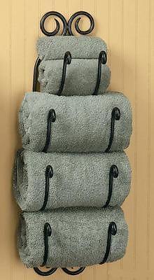 TUSCAN BATH TOWEL RACK Bathroom Wall Mount Holder Wine 27