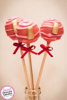 Sweet Cucas and Cupcakes by Rosângela Rolim: Pop Cake Pequeno Ursinha e Inicial Aniversariante