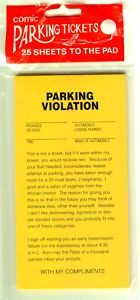 """Hilarious Parking Ticket - """"May the flees of a thousand camels infest your armpits..."""""""