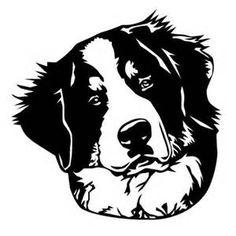 bernese mountain dog silhouette - Bing images