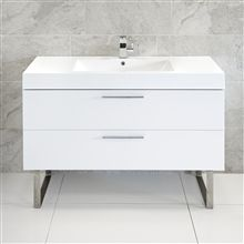 Beau Katia Blum 2 Drawer Unit With Basin And Stainless Steel Legs 120x50cm  Cloakroom Vanity Unit,