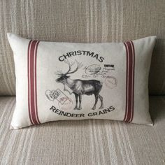A personal favorite from my Etsy shop https://www.etsy.com/ca/listing/253405170/reindeer-feed-sack-pillow-cover-vintage