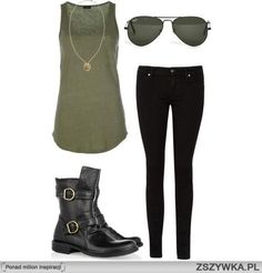 Sub the combat boots for cowboy boots or ballerina flats
